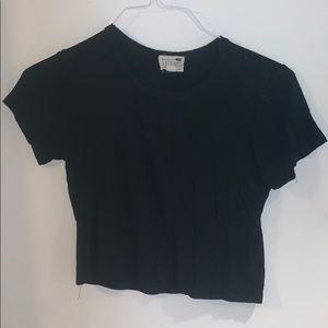 LA Hearts black short sleeve crop top